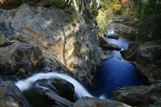 smalls falls maine forest stream river water waterfalls cascade timelapse fall color floiage